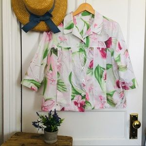 100% Cotton Eyelet Floral Summer Jacket!
